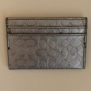 Coach - CC/Business Card Holder - Silver